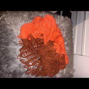 Orange infinity scarf